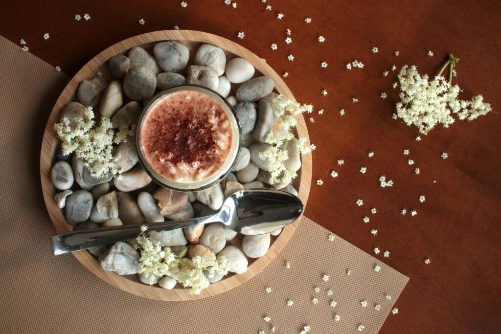 arroz con leche cordial sabugueiro sauco